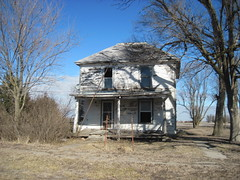 39. A third abandoned house in Mercier. There are several occupied ones though, 2-14-16 (leverich1991) Tags: brown town exploring ghost kansas mercier 2016