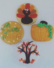 Thanksgiving Cookies (tasteoflovebakery) Tags: thanksgiving tree cookies thanks turkey pumpkin give
