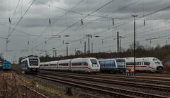 3135_2016_03_28_Moers_Rheinkamp_NWB_VT_648_424_DB ICE_9005_5812_005_MVG_7720_DB_ICE_707_5407_507 (ruhrpott.sprinter) Tags: railroad ice train germany logo deutschland graffiti diesel outdoor natur eisenbahn rail zug db cargo nrw passenger 707 fret ruhrgebiet freight vt locomotives stellwerk lokomotive 9005 sprinter ruhrpott 648 gter moers mvg nwb 5407 7720 reisezug interfrigo wachdienst 5812 formsignale ellok rheinkamp gleiswaage