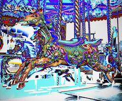 Carousel Horse (grahambrown1965) Tags: horse amusement pier brighton ride pentax carousel merrygoround solarization funfair brightonpier amusementride solarisation k20d pentaxk20d smcpentaxda1855mmf3556alwr