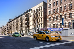 Follow the Leader (ajs_nyc) Tags: street city nyc streets cityscape harlem manhattan cab taxi uptown transit