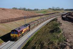 66-117-6M48-Heamies-Farm- Norton-Bridge-19-4-2016 (D1021) Tags: cars shed staffordshire dbs class66 ews 66117 d700 nikond700 nortonbridge dbschenker heamiesfarm 6m48 searchlightlanejunction