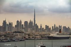 Dubai Skyline  und Hafen (hph46) Tags: skyline canon dubai uae hafen vae queenelizabethii eos5dmkii burjkhalifa
