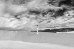 """Elements"" (helmet13) Tags: d800e raw bw she woman deathvalleynationalpark sand dunes mesquiteflatsanddunes desert beauty silence landscape california usa sky sunshine clouds aoi heartaward peaceaward 100faves world100f simplicity"