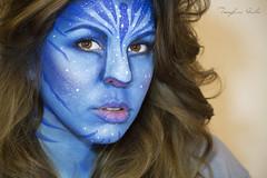 Avatar (Julia Ellies) Tags: blue portrait selfportrait art film hair facepainting eyes arte avatar makeup occhi autoritratto navi azzurro ritratto tutorial selfie trucco youtube trib canon600d