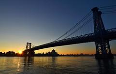 Williamsburg Bridge, 12.05.15 (gigi_nyc) Tags: nyc newyorkcity sunrise lowereastside eastriver williamsburgbridge