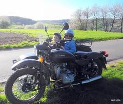 DSCN0376 (studio matahari lutong) Tags: blue sky bavaria spring ride tara maureen fruehling spessart mainfranken