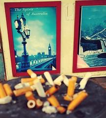 The spirit of Australia (Raja Islam) Tags: travel london tower clock spirit cigarette smoke ad australia butts ash tray