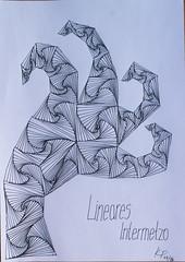 Lineares-Intermetzzo (Stille Wasser) Tags: figur abstrakt dina4 tintenroller realesbild