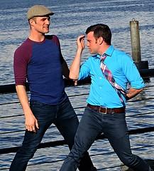 (ManontheStreet2day) Tags: boy belt tie crotch twink jeans cap bluejeans
