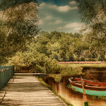 Kleines Boot am See-Small boat on the lake thumbnail