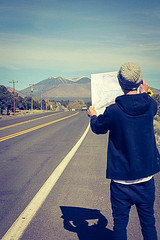 Mapping the way (LifeatTahoe) Tags: road usa mountains map roadtrip snowcapped arazona
