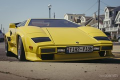 _MG_0003 (KenzoSmithPhotography) Tags: park new beach wheel yellow circle tire shore round jersey asbury rim hubcap lamborghini 1990 90s countach lambo