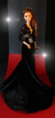 Red Carpet Couture (MaxxieJames) Tags: red black film movie carpet doll dolls dress secret barbie move velvet made actress teresa brunette gown manor premier mattel collector vittoria the blutmere