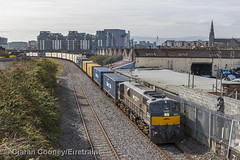 IE 087 Dublin-Ballina IWT Liner, Ossory Road (Eiretrains) Tags: dublin train irishrail liner freighttrain generalmotors northwall dublincity iwt diesellocomotive containertrain iarnrdireann 071class irishrailways ossoryroad