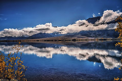 A blue day in Autumn (Kevin_Jeffries) Tags: blue autumn newzealand sky cloud lake reflection tree nature water wonderful interesting bush awesome scenic atmosphere