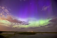 July 11 aurora HFF (John Andersen (JPAndersen images)) Tags: calgary night stars farm country alberta aurora islandlake