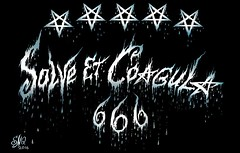 Solve et Coagula (Sofia Metal Queen) Tags: black art painting artwork magic blacklight pentagram satanism inverted magical satanic blackmagic solveetcoagula