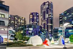 The Quays - Docklands (Bacoon) Tags: arquitetura architecture night arquitectura nightlights newquay australia melbourne victoria docklands oculus 3008 monumentpark nightimage callummorton mcbridecharlesryan newquaypromenade mabcorporation