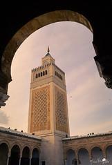 Ezzaitouna mosque (kaiser photographie) Tags: travel sky architecture tunisia minaret tunis religion culture mosque medina islamicart