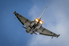 RAF Typhoon (deltic17) Tags: sky plane fighter jet fast lincolnshire powerful loud defence raf squadron afterburner lincs rafconingsby