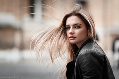 Nicole (lucafoscili) Tags: light portrait italy woman girl beautiful beauty face fashion hair outdoors model glamour eyes nikon italia wind naturallight parma d800 nikond800 lucafoscili