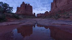 Early Morning Reflections in Arches (ken.krach (kjkmep)) Tags: arches archesnationalpark