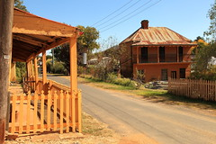 Sofala Streetscene (Darren Schiller) Tags: street abandoned architecture cottage australia rusted newsouthwales disused derelict streetscape deserted smalltown decaying dilapidated goldrush pickets sofala