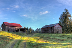Red Barn - Cowichan Valley, Vancouver Island, British Columbia, Canada (Toad Hollow Photography) Tags: red canada barn rural bc britishcolumbia farm vancouverisland valley pastoral hdr bucolic cowichan