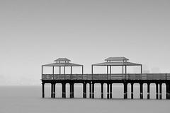 The Bridge (faisy5c) Tags: bridge water monochrome beautiful fog coast pier blackwhite seaside nikon seascapes outdoor kuwait seashore totalphoto d7100 5ccha faisy5c nikond7100 nikonafs200500mmvr