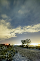 Snowy Road Home (M_Anderson_UK) Tags: road blue trees winter snow tree night clouds stars landscape nikon nightscape londonderry derry walledcity d5200 18140mm