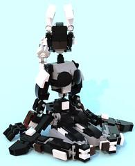 kuro 19 (pb0012) Tags: black brick bunny robot lego kuro fembot android mecha mech bunnygirl robo moc ldd mechanoid pb01