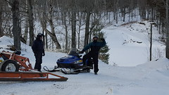 Stan & Fred snowmobiling