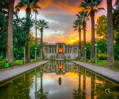 Set fire to the sky (Masoud KM) Tags: sunset red sky tourism fire nikon long exposure iran shiraz hdr goldenhour photomatix d7100