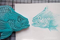 carving_a_fish_stamp4740.jpg (KristinaMariaS) Tags: printing stempel stampcarving handcarvedstamp drucken stempeln amliebstenbunt kristinaschaper