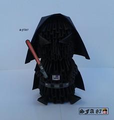 Darth Vader Origami 3d (Samuel Sfa87) Tags: paper star 3d origami handmade crafts craft guerra estrelas disney modular darth sfa jedi anakin wars vader papel guerre stellari dart sith nas skywalker papercraft fener origami3d sfaorigami sfa87