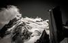 Mont Blanc du Tacul (N/B) (Frédéric Fossard) Tags: nature montagne alpes noiretblanc altitude glacier nuage paysage chamonix alpinisme montblancdutacul hautesavoie granit sérac arêtedescosmiques massifdumontblanc triangledutacul grandgendarme