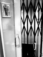 Brutalist Interior Elevator - Leeds (James W Bell (Good Honest Iago) - Leeds) Tags: towerblock 50s 60s civilarchitecture socialhousing midcentury