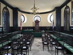 Capitol interior: Colonial Williamsburg