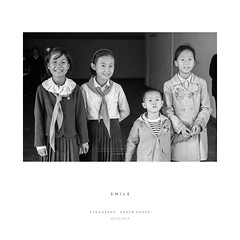 Smile (reubenteo) Tags: life people blackandwhite vintage war asia respect transport korea retro kimjongil northkorea dprk kimilsung kimjongun