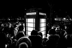 What's in the box! (aljones27) Tags: lighting street light people blackandwhite bw london monochrome lights tourists lumiere lit matchpointwinner mpt499