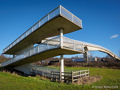 Footbridge over M1 (Roger B.) Tags: bridge motorway unitedkingdom sheffield southyorkshire