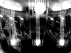 Light vibration (Arthur Bouteiller) Tags: light shadow people urban bw music white abstract black blur art amsterdam dark fire perception concert movement experimental noir graphic emotion noiretblanc live dream shapes style down nb human orchestra forms dreamy form feeling fuego noise damaged shape et blanc symphony upside humans feu flou musique confuse destroy vibration vibe orchester