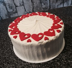 Red heart Valentine red velvet cake