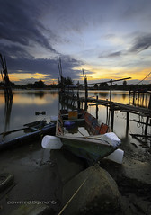 Sunrise Seascape with Fisherman Boat (mangphotography) Tags: ocean morning travel blue sunset red sea summer wallpaper sky panorama cloud sun seascape reflection beach nature water beautiful beauty sunrise vintage river landscape dawn evening boat wooden twilight fishing asia alone ship natural outdoor background traditional scenic peaceful scene panoramic oldschool transportation malaysia boating scape tranquil malay
