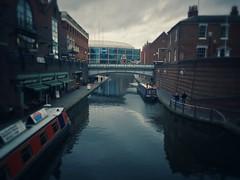 Birmingham Canal (samar_swain) Tags: street city uk house water boat canal birmingham iphone