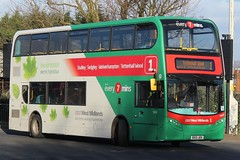 National Express West Midlands Alexander Dennis Enviro400H 5414 (BX13 JOV) (Wolverhampton) 'Maggie' (john-s-91) Tags: dudley 5414 nationalexpresswestmidlands alexanderdennisenviro400h wolverhamptonroute1 bx13jov