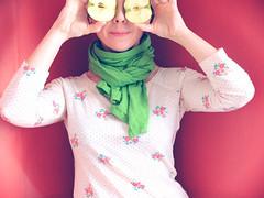 apple of my eyes (sonyacita) Tags: scarf self eyes apples utata:project=ip230
