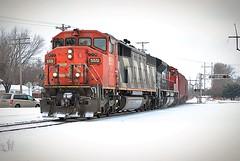 Cresting (Andrew.Osborne) Tags: santa railroad saint minnesota burlington yard turn cn point paul pacific stevens january minneapolis railway canadian national local fe northern bnsf 2016 northtown sd70m2 sd60f