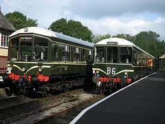 Churnet Valley DMUs 29th June 2007 (Rightgoodmotor) Tags: train wagon carriage diesel rail railway class railcar valley co multiple derby 104 unit lightweight dmu birmigham brcw chrunet